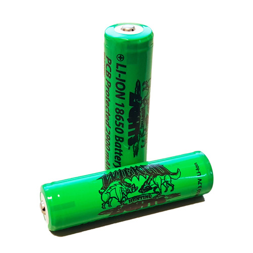 WICKED LIGHTS 2-PACK REPLACEMENT 18650 2900MAH LI-ION RECHARGEABLE BATTERIES