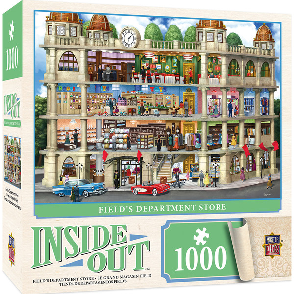 inside out fields department store 1000 piece jigsaw puzzle. Black Bedroom Furniture Sets. Home Design Ideas