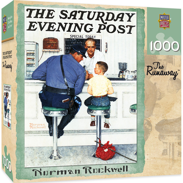 Saturday Evening Post The Runaway 1000 Piece Jigsaw Puzzle