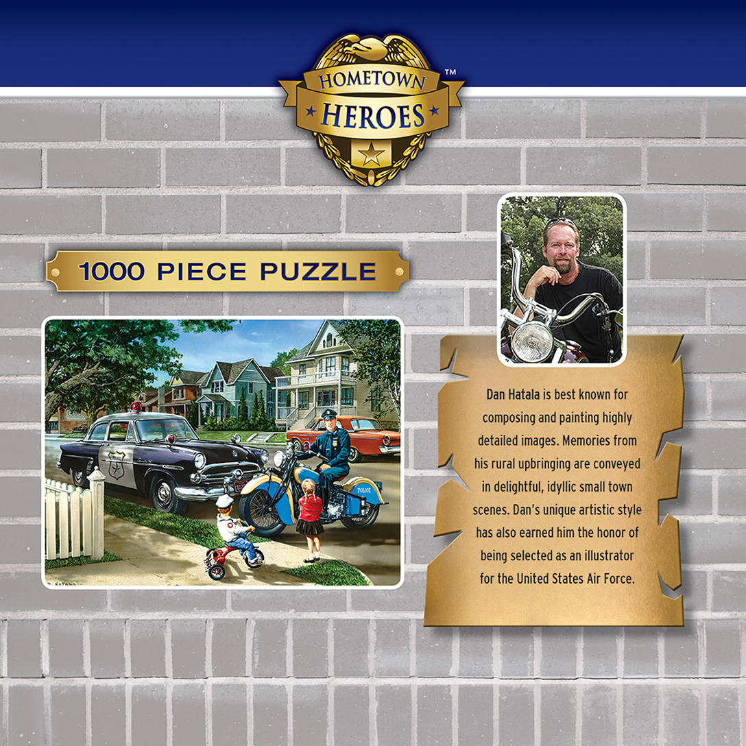Hometown Heroes Neighborhood Patrol 1000 Piece Jigsaw Puzzle