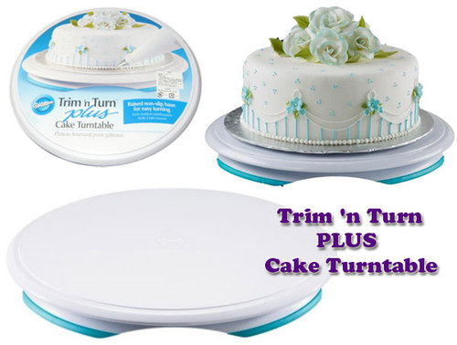 how to make a turntable for cake decorating