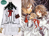 #2 white jacket+ black lines+ white skirt+ black shirt+ dark red necktie