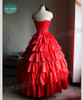 Maria Padilha do Inferno, Star Pomba Gira Costume Red Corset Tiered Long Skirt