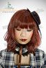 Last Chance: Fine Dull Wig Lolita Curl Hime Cut Medium Length*Victorian Rose Wine Mix Grey
