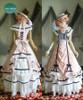 Dress+ Skirt+ Hat Set, with petticoats inside look