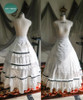 Skirt, with petticoats inside look