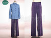 Optional items:      purple velveteen pants $25.00