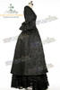 Victorian Rococo Lolita Jacquard Square Neckline Ball Dress*Floor Length, Jacquard or Cotton