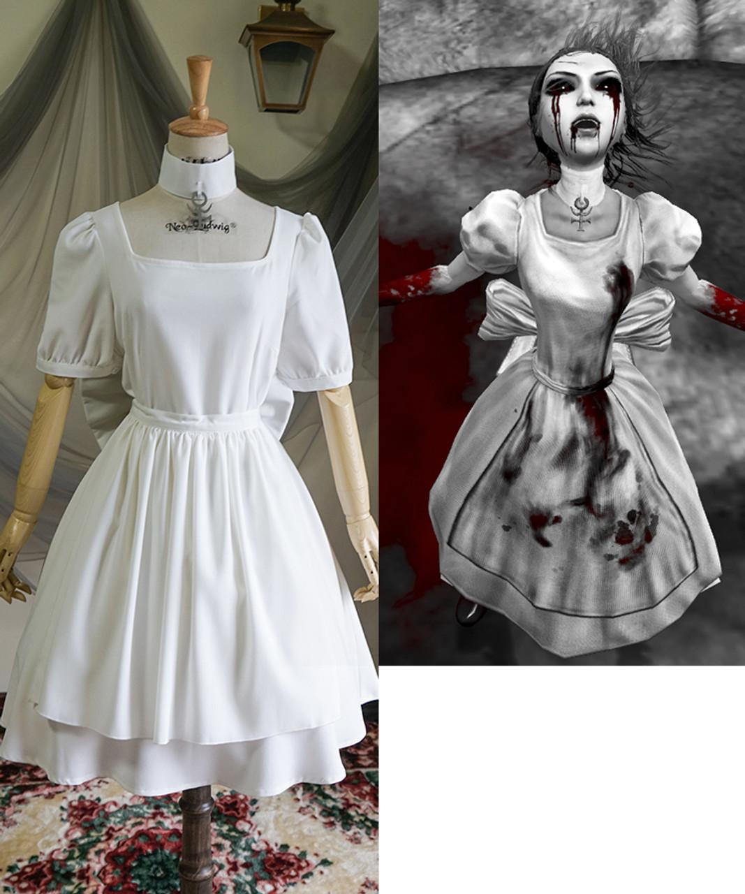 alice  madness returns  game  cosplay  hysteria maid dress  u0026 apron costume set