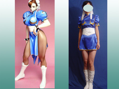 Street Fighter Cosplay, Chunli's all set