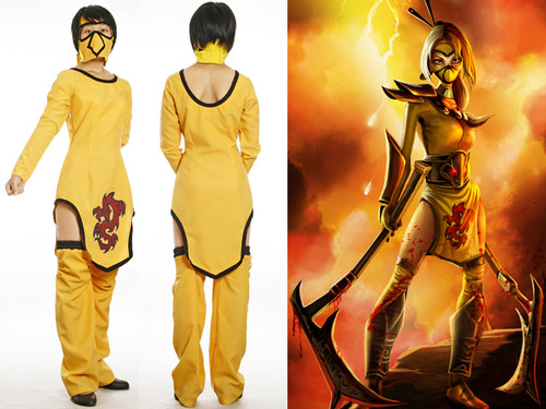 League of Legends Cosplay, Akali (the Fist of Shadow) Costume Set