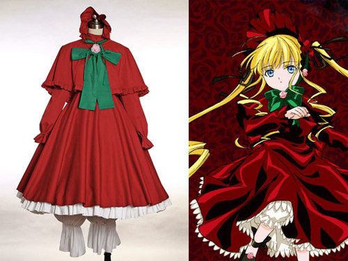 Rozen Maiden Cosplay Shinku Red Outfit*4pcs