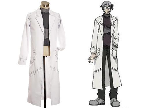 Soul Eater Cosplay Dr. Franken Stein Outfit