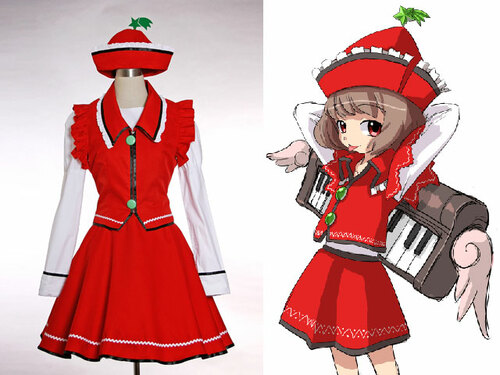 Touhou Project, Perfect Cherry Blossom Cosplay, Lyrica Prismriver Costume Outfit*4pcs
