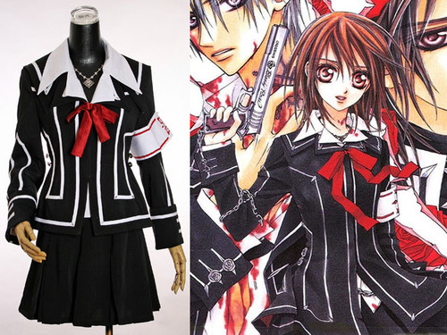 Vampire Knight Cosplay, Yuki Cross School Uniform Set*2colors Lady Version