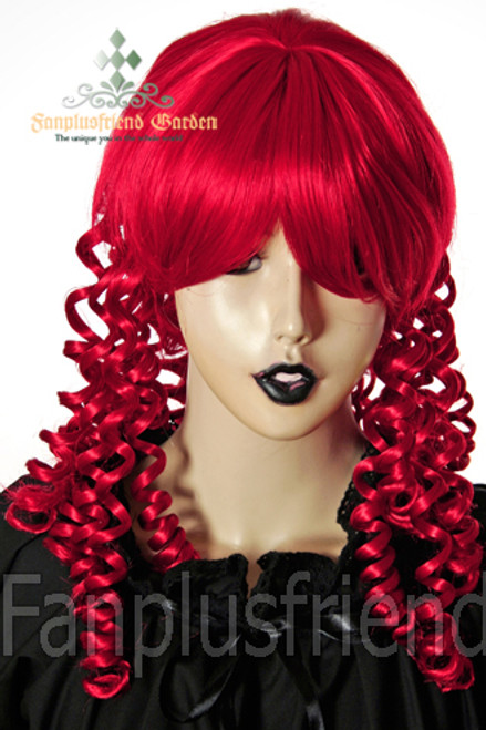 Last Chance: Victorian Lolita/Aristocrat Gothic:Small Vertical Curls Coil Wig*Fire Red