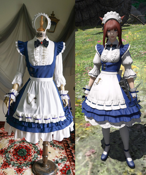 Final Fantasy XIV (Game) Cosplay, Csilla Beleth Maid Costume Set