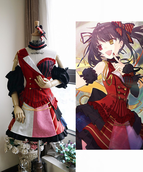 Date A Live Cosplay, Kurumi Tokisaki Idol Dress Costume