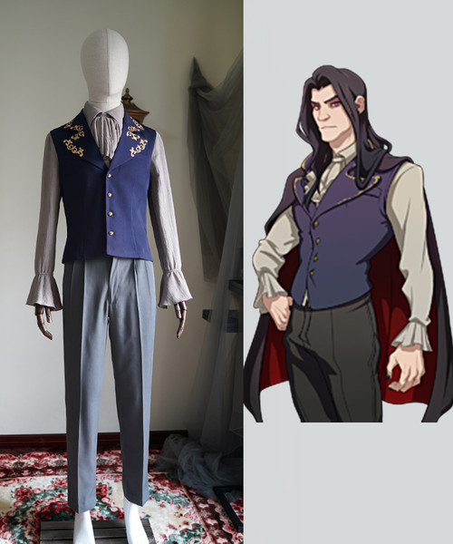 Dream Daddy (Game) Cosplay, Damien Bloodmarch Gothic Costume Set