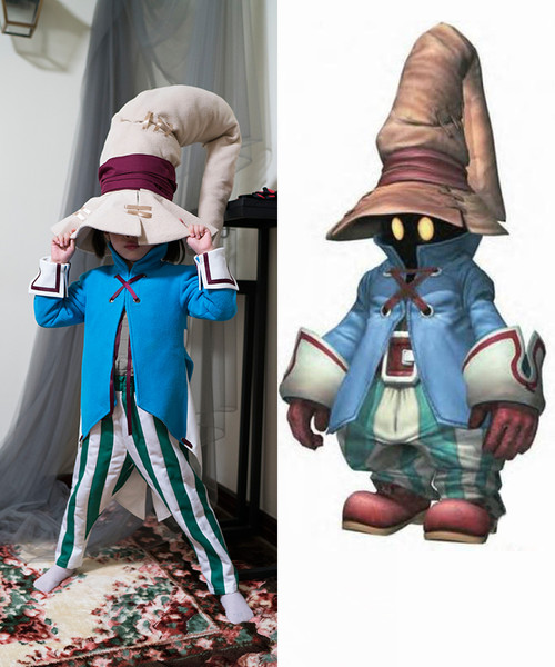 Final Fantasy IX (Game) Cosplay, Vivi Ornitier Black Mage Costume Set