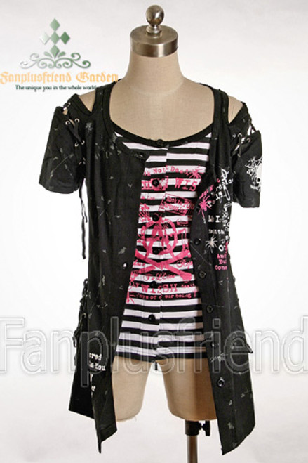 Black + White Black Stripes Version
