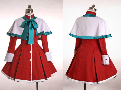 Kanon Cosplay Lolita Winter Cotton Coat with Cape