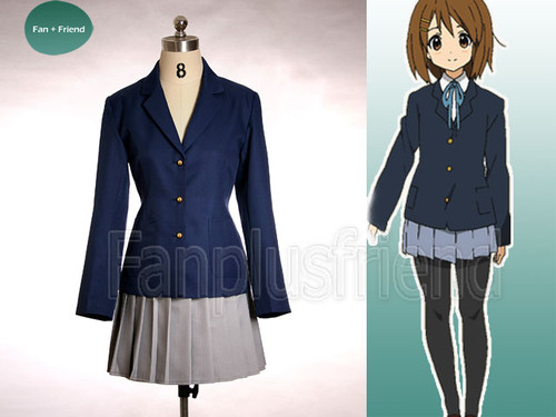 KON Cosplay, Hirasawa Yui School Uniform Costume Outfit*Winter Set