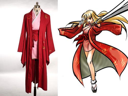 Samurai Spirits Sen/Samurai Shodown Slash Cosplay, Suzu Hime Kimono Set