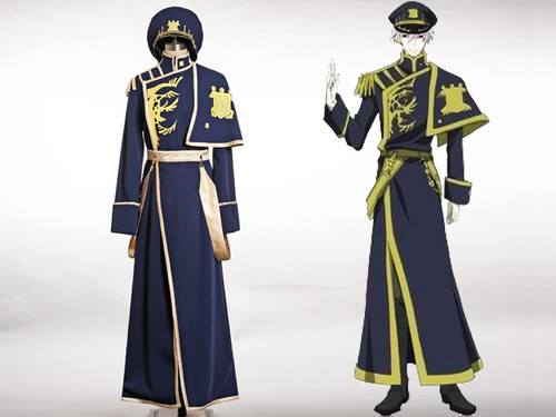 07-Ghost Cosplay Ayanami Military Uniform Costume Set