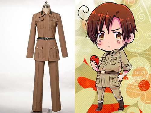 Hetalia Axis Powers Cosplay, Roma Military Costume