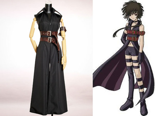 Chobits Cosplay Dita Costume Long Black Jacket