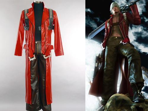 Devil May Cry Cosplay: Dante's PU Leather Costume Set!