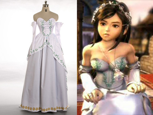 Final Fantasy IX Cosplay, Garnet Princess Bride Gown