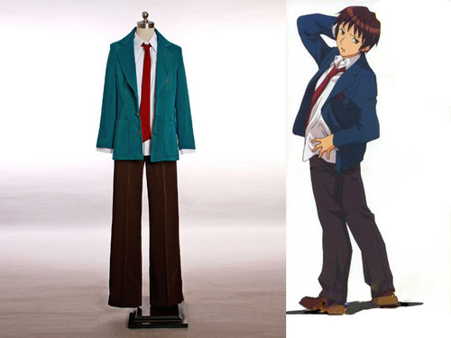 The Melancholy of Haruhi Suzumiya Cosplay, Kyon Boy School Uniform Costume Set