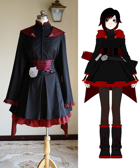 rwby cosplay ruby rose gothic outfit costume