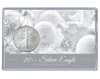 Christmas Silver Eagle Acrylic Display - White Theme