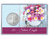 Mother's Day Silver Eagle Acrylic Display - Flowers 2 Theme