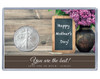 Mother's Day Silver Eagle Acrylic Display - Chalkboard Theme