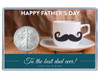 Father's Day Silver Eagle Acrylic Display - Mustache Theme