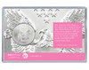 New Baby Silver Eagle Acrylic Display - Pink Socks