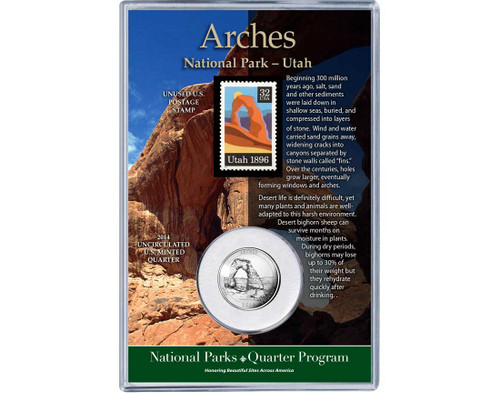 Arches National Park Coin & Stamp Set