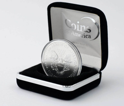 2014 Silver Eagle in Velvet Box