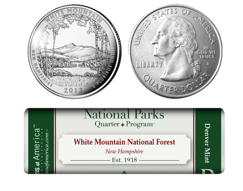 White Mountain National Forest D Mint Quarter Roll