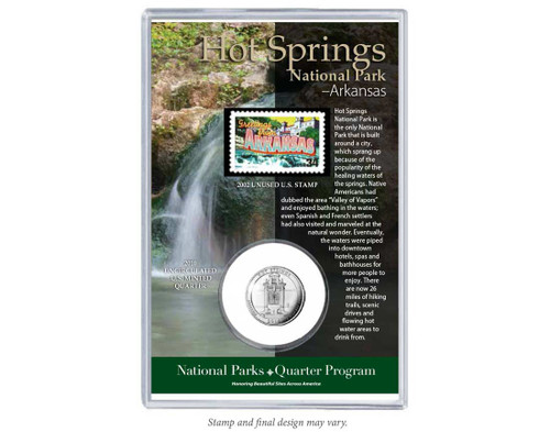 Hot Springs National Park Coin & Stamp Set