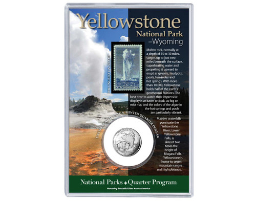 Yellowstone National Park WY Coin & Stamp Set