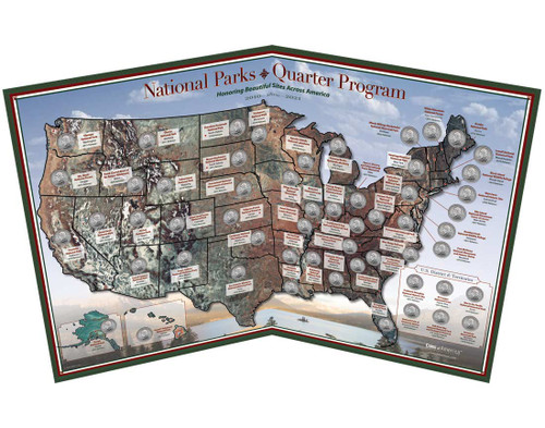 National Park Quarter Map