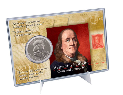 Benjamin Franklin Coin And Stamp Set