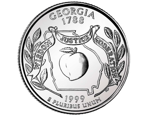 1999 Georgia Quarter D Mint