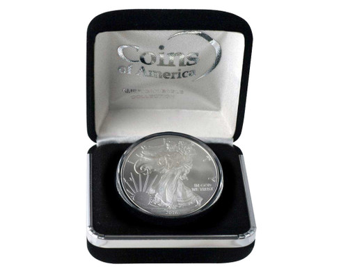 2016 Silver Eagle in Velvet Box