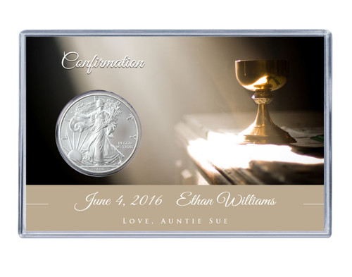 Confirmation Silver Eagle Acrylic Display - Chalice